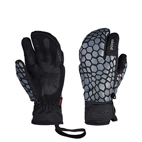 Sunshiney Ski Gloves, -20℉ Snow Winter Gloves Waterproof Mittens Warm Touchscreen Gloves Winter Outdoor Sports