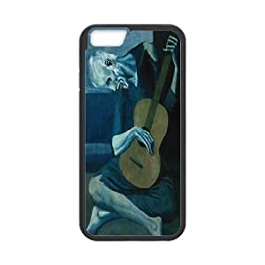 Tyquin The Old Guitarist Picasso Case For IPhone 6 Men Design, Iphone 6 Cases For Girls For Teen Girls Protective With Black