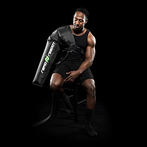 Rapid Reboot Recovery Arm System: Compression Arms, Pump, and Case. Sequential, dynamic air compression for massage therapy, improved circulation and faster workout recovery for all athletes (Long) by Rapid Reboot (Image #1)