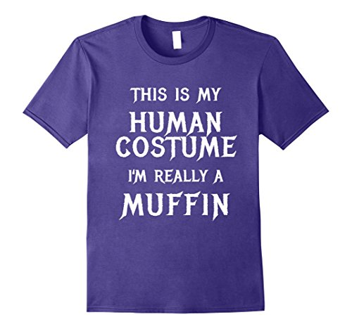 Mens I'm Really a Muffin Costume Funny Cute Halloween Shirt Medium Purple