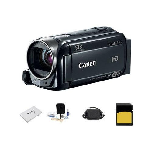 Canon VIXIA HF R50 1080p Full HD Camcorder, - Bundle With LowePro Carrying Case, 16 GB Class 10 SDHC Memory Card, Cleaning Kit, SD Card Case