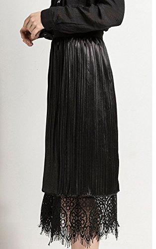 Longue FemmeJupe Plisse Noir L't Jupon Tulle Ete Jupe Plisse Longue Midi Boheme Femme GUOCU XS7FqtX
