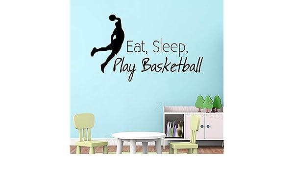yaonuli Eat Sleep Play Basketball Apliques de Pared Deportes ...