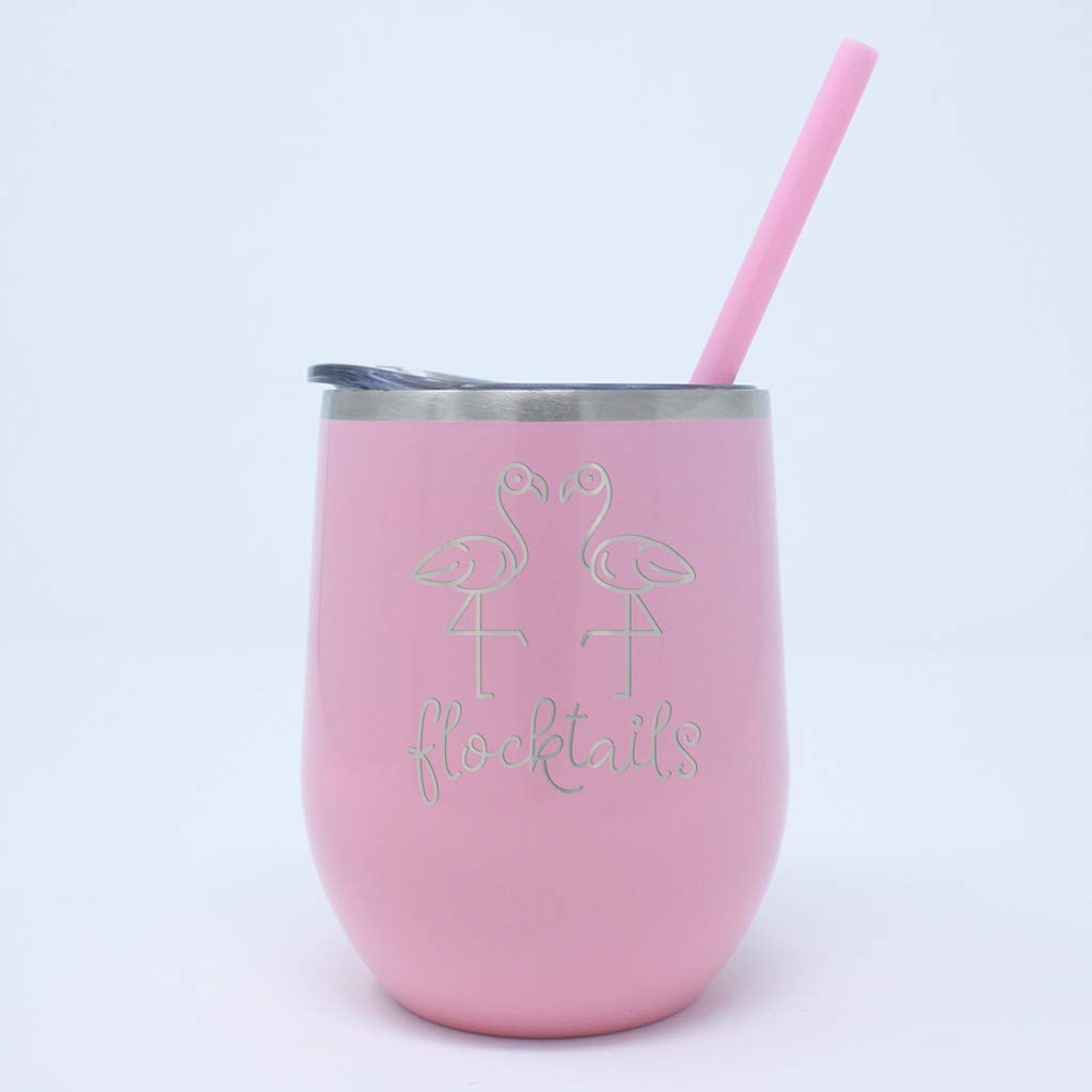 Flocktails Flamingo Stemless Wine Tumbler