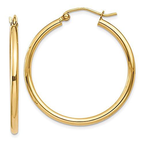 10k Gold Classic Hoop Earrings - 8