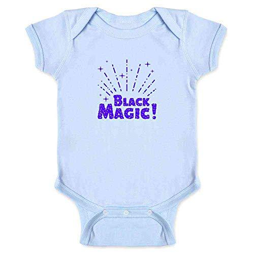 Pop Threads Black Magic! Retro Witchcraft Halloween Light Blue 24M Infant Bodysuit ()