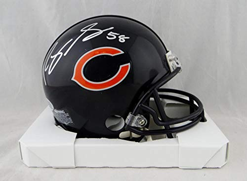 Roquan Smith Autographed Chicago Bears Mini Helmet- Beckett Auth Silver ()