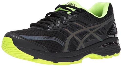 ASICS Mens GT-2000 5 Lite-Show Running Shoe, Black/Safety