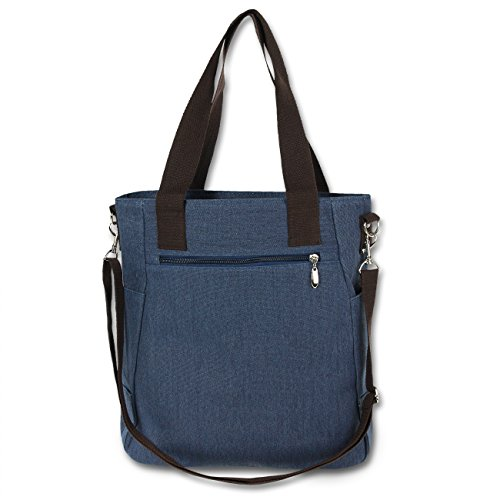 al azul Lona Bolso para mujer de Manoro hombro azul P5gq8qw4