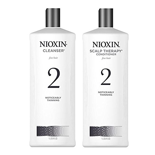 Nioxin System 2 nettoyant et Scalp Therapy Conditioner, 33,8 oz