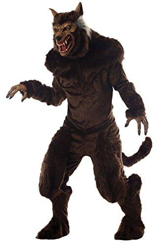 Deluxe Adult Wolf Mask (Morris mens Deluxe Werewolf Costume Standard)