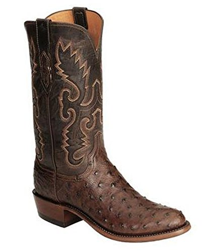 1883 Full Quill - Lucchese N1132.R4 Men's Handcrafted 1883 Full Quill Ostrich Boot, Size 13D