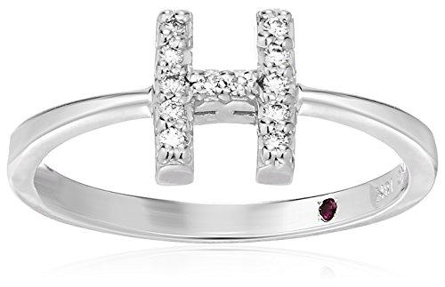 Roberto Coin Women's 001634AWLRXH Diamond Initial Ring, White, Size 7 ()