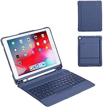 LOMQIT Funda para Teclado iPad para iPad Air 3 Gen 2019 10.5 ...