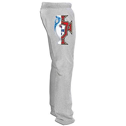 Show Time Men's Euro 2016 Champ Portugal Athletics Sport Gym Pants Ash XL