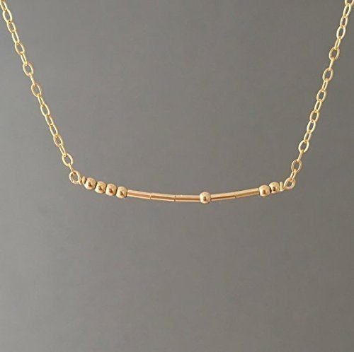 CUSTOM Gold Fill Morse Code Necklace also in Silver