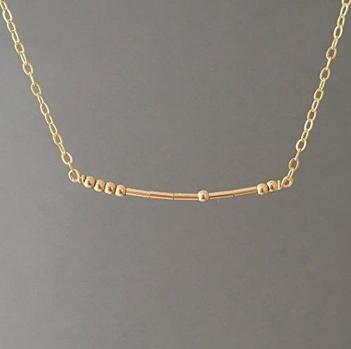 CUSTOM Gold Fill Morse Code Necklace also in Silver