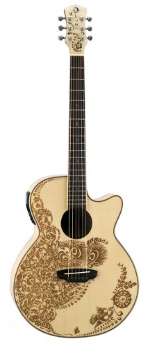 Luna Henna Series Oasis Spruce Acoustic-Electric Guitar - Natural