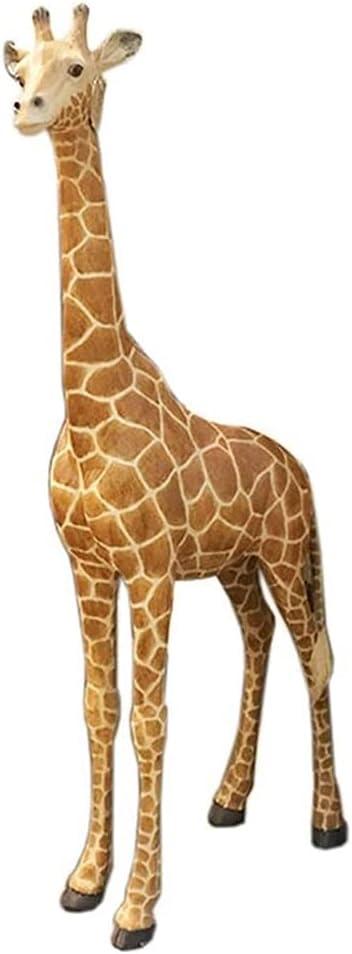 MAHONGQING Sculpture Giraffe Statue Animal Sculpture Outdoor Garden Decoration Ornaments Large Animal Ornaments Garden Simulation Wild Animals Novelty Figurines Statues