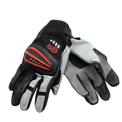 Motorcycle Rally Leather Gloves For BMW R1200GS ADV F700GS F800GS 2017 (Red)