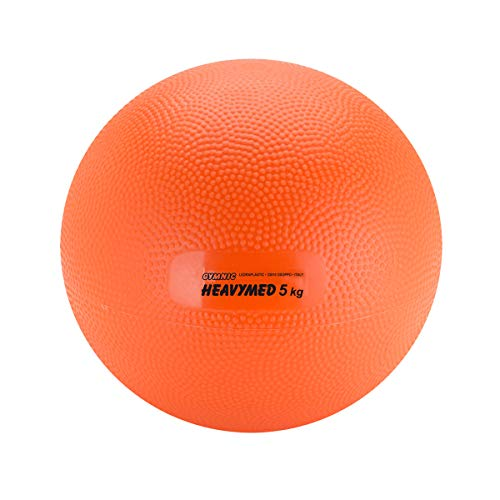 Gymnic Heavymed 5 Medicine Ball, Orange (23 cm, 5 kg / 11 lbs)