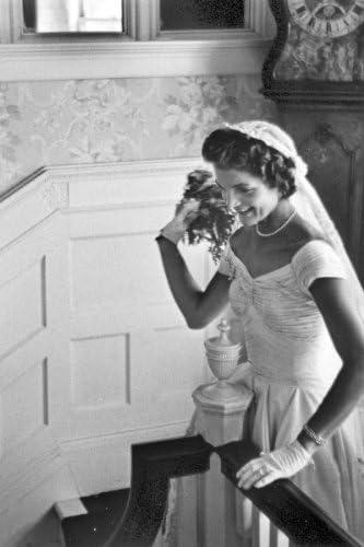 New 4x6 Photo JacquelineJackie Kennedy on Wedding Day