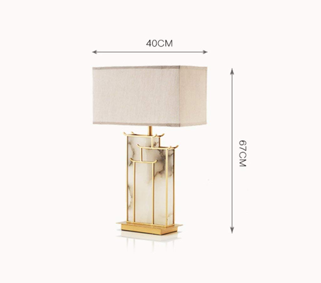 Table Lamp, Postmodern Natural Marble Living Room Hotel Sample Room Bedside Lamp Gold 40 &Times; 67Cm Energy Saving and Environmental Protection Modern, ChuanHan