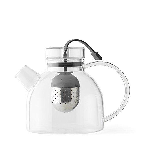 MENU 4545119 Small Glass Kettle Teapot, 25 oz, Clear