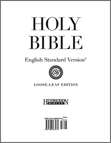 Loose-Leaf Bible-ESV-Pages Only: Amazon co uk: Hendrickson