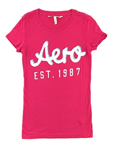 Aeropostale Womens Graphic T-Shirt Small Dark Pink 5553