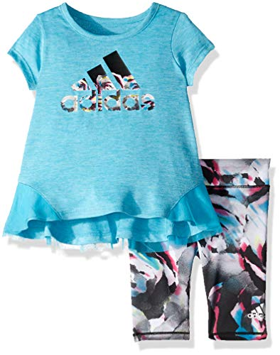 adidas Baby Girls Capri Tight Set, LEAP Turquoise 24 Months ()