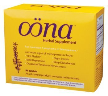 Oona Herbal Herbal Supplement for Menopause 96 Tablets