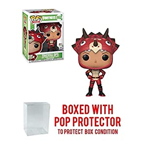 Funko Tricera Ops: Fortnite x POP! Games Vinyl Figure & 1 POP! Compatible PET Plastic Graphical Protector Bundle [#462 / 36024 - B]