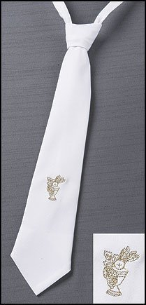 Boys First Holy Communion Gold Embroidered Chalice Design 14