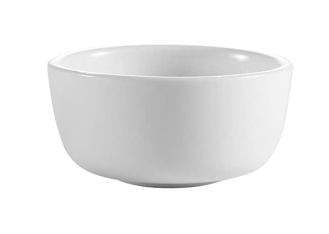 CAC China GS-11 4-3//4-Inch Greenbrier Green Band Stoneware Fruit Bowl Box of 36 American White 5-Ounce
