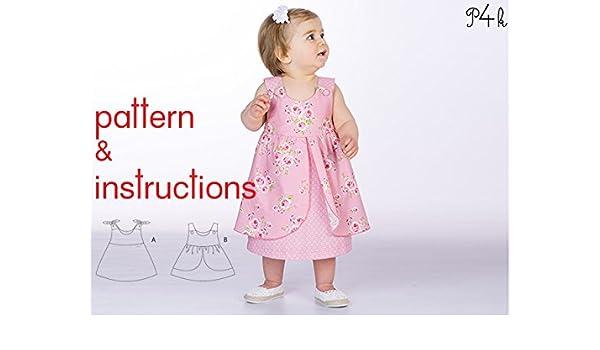 Papel-los patrones de costura y de Instrucciones del bebé vestido ...