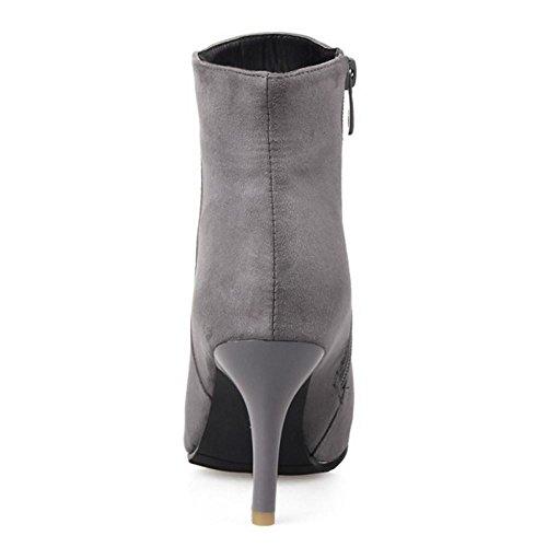 Coolcept Avec Bottes Latral Pour Femmes Gris Zip Habilles La Et Mode rRq0rwP