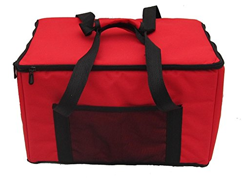 "PK-24A:Chinese Food Delivery Bag, Shoulder Bag,17"" L x 10"" W x 10"" H Rigid Food Delivery Box, Heat Insulated Food Delivery Bag, Thermal Food Take Out Bag, Keep Food Hot, 2-way Zipper, Top Loading"