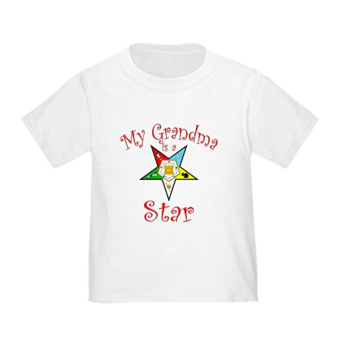 CafePress My Grandma is a Star Toddler T-Shirt Cute Toddler T-Shirt, 100% Cotton White