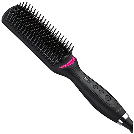 Revlon Salon One Step Hair Straightening Brush - 41Fka4jqomL - Revlon XL Hair Straightening Heated Styling Brush