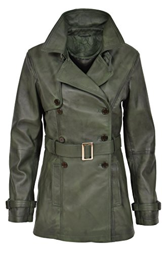 para mujer manga Trench larga Fashion Coat 40 Goods verde verde A1 8xETSq0Yw8