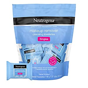 Neutrogena Facial Cleansing Towelette Singles, Daily Face Wipes to Remove Dirt, Oil, Makeup & Waterproof Mascara, Gentle…