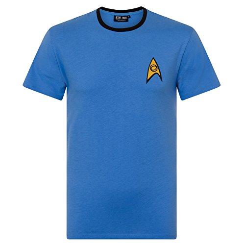 Star Trek Official Gift Mens Science Medical Uniform T-Shirt XL (Star Trek Enterprise Uniform)