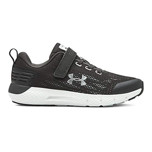 UNDER ARMOUR Boys' Pre School Rogue Alternate Closure Sneaker, Jet Gray (100)/White, 13K (Boys Size 13 Sneakers)