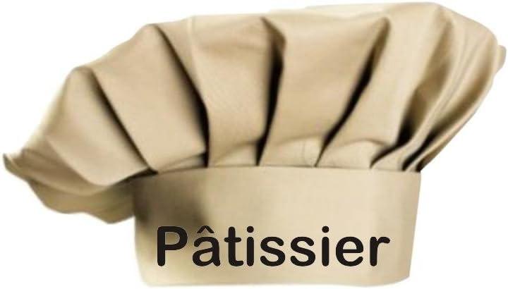 Cream Coton taille unique Shirtstown toque de cuisinier p/âtissier k/üchenkonditor sevice cuisson gro/ßk/üche koch apprenti /étoiles en 8 couleurs-id/éal pour gastro