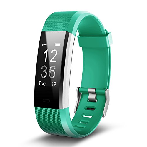 Torntisc Fitness Tracker Bluetooth Heart Rate Monitor Watch Pedometer Call Notification Push Bracelet - Green