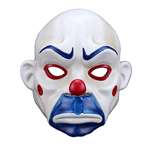 HU Resin Halloween Mask Clown Robber Mask Joker Sad Film -