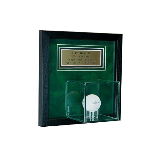 - Wall Mounted Golf Hole in One Display Case with Custom Personalization