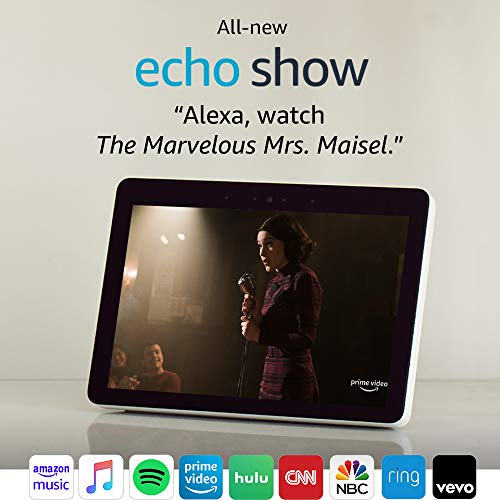 """Certified Refurbished Echo Show (2nd Gen) – Premium sound and a vibrant 10.1"""" HD screen - Sandstone"""