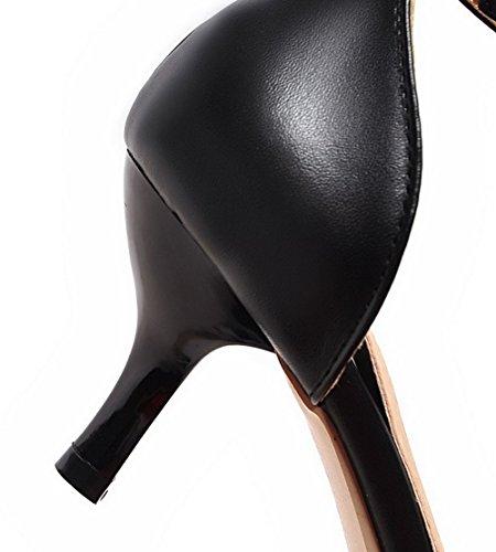 Voguezone009 À Moyen Femme Sandale Or Fermé Bout Couleur Talon Assortie rnYrxIgqC4